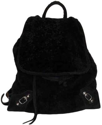 Balenciaga Black Wool Backpacks