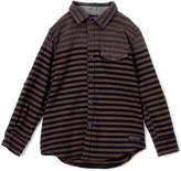 DKNY Charcoal Dual Stripe Long-Sleeve Button-Up - Boys