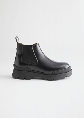 And other stories Chunky Leather Chelsea Boots
