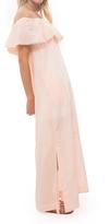 Lisa Marie Fernandez Mira Sheer Flounce Dress