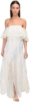 Temperley London Georgette & Lurex Dress