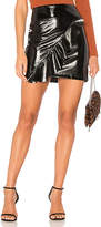 David Lerner Asymmetrical Vinyl Skirt