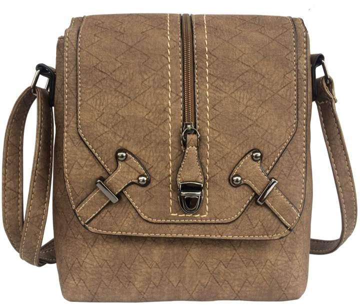 4c72f940fcaf Women's Crossbody Messenger Bag FanCarry Flap Top Front Zipper Shoulder  Purse Satchel
