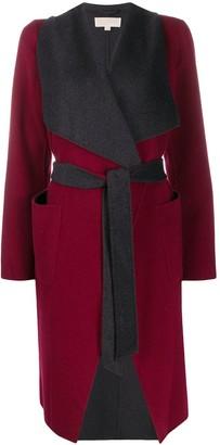 MICHAEL Michael Kors Contrast Belted Cardi-Coat