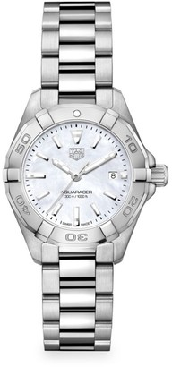 Tag Heuer Aquaracer 27MM Stainless Steel & Mother-of-Pearl Quartz Bracelet Watch