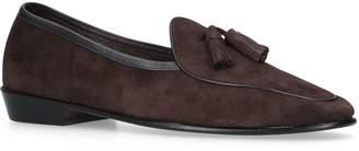Baudoin & Lange Suede Tassel Loafers