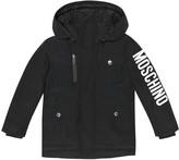 Moschino Kids Printed cotton-blend down jacket