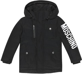 MOSCHINO BAMBINO Printed cotton-blend down jacket