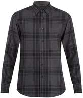 Ermenegildo Zegna Point-collar checked cotton shirt