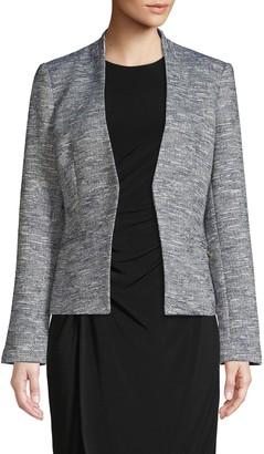 Calvin Klein Heathered Open-Front Blazer