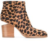 Alexander Wang 'Gabi' leopard ankle boots - women - Calf Leather/Calf Hair - 37.5