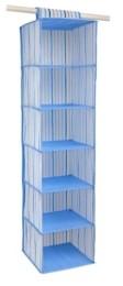 Laura Ashley 6 Shelf Hanging Organizer in Painterly Blue Stripe