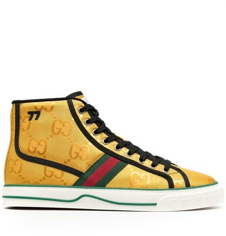 Gucci Web detail high-top sneakers