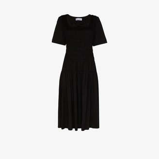 Molly Goddard Tina ruched cotton midi dress