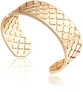 Rebecca Melrose Yellow Gold Over Bronze Bangle Bracelet