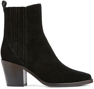 Paige Elisa Square-Toe Suede Ankle Boots