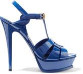 Saint Laurent Classic Tribute 105 patent-leather sandals