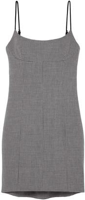 Alexander Wang Houndstooth Tweed Mini Dress