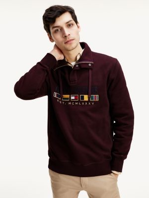 Tommy Hilfiger Tommy Icons Flag Zip Collar Sweatshirt