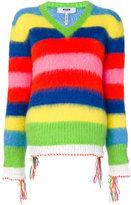 MSGM V-neck stripe jumper