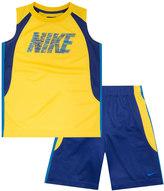 Nike Boys 4-7 Colorblock Muscle Tee & Shorts Set