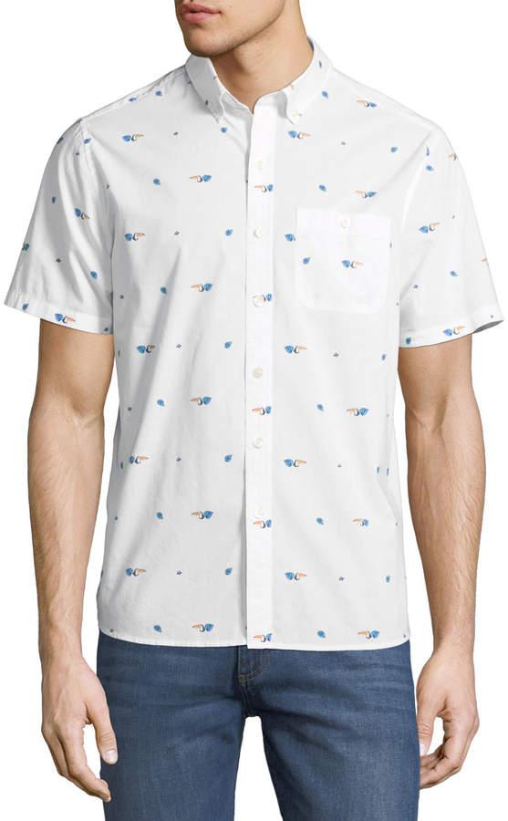 Michael Bastian Toucan Short-Sleeve Sport Shirt