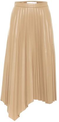 Jonathan Simkhai Jayla asymmetric faux leather midi skirt
