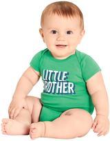 Carter's Infant Boys' Little Brother Slogan Cotton Bodysuit