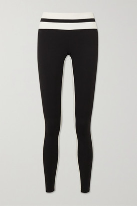 Vaara Flo Tuxedo Striped Stretch Leggings - Black