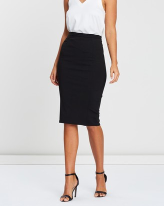 Atmos & Here Atmos&Here - Women's Black Pencil skirts - Naomi Pencil Skirt - Size 6 at The Iconic