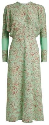 Victoria Beckham Paint Splatter Print Midi Dress