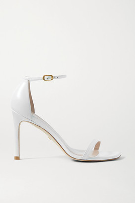 Stuart Weitzman Amelina Leather Sandals - White