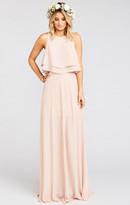 MUMU Princess Ariel Maxi Skirt ~ Dusty Blush Crisp