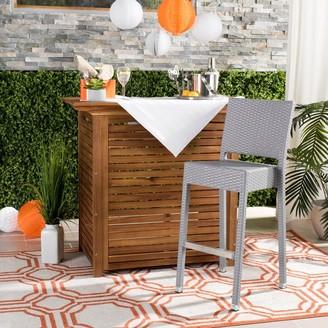 Safavieh Bethel Indoor-Outdoor Grey 30-inch Barstool