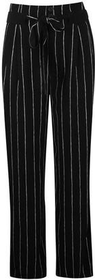 Oui Stripe Wide Leg Trousers