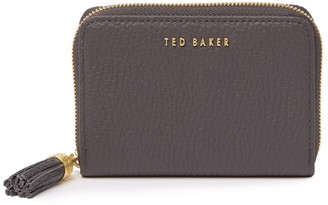 Ted Baker Tassel Zip Around Small Leather Purse