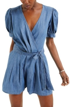 INC International Concepts Inc Puff-Sleeve Romper, Created for Macy's