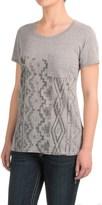 Roper Heather Jersey Boyfriend T-Shirt - Short Sleeve (For Women)