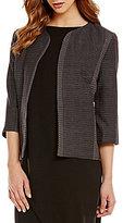 Eileen Fisher Petites Organic Cotton Kurume Dash 3/4 Sleeve Jacket