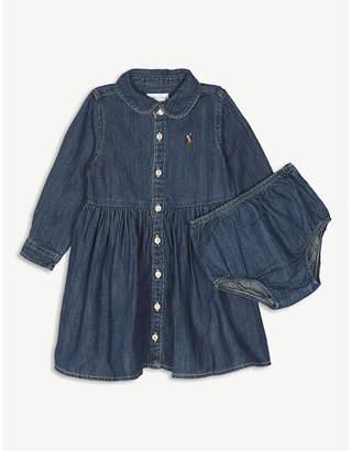 Ralph Lauren chambray long sleeve shirt dress 12 months
