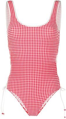 La Perla Gingham One Piece Swimsuit