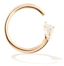 Repossi Serti Carres Alternes Diamond & 18kt Gold Earring - Rose Gold