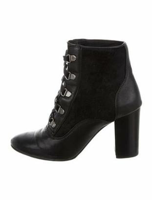 Lanvin Leather Lace-Up Boots Black