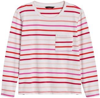 Banana Republic Petite Boxy Stripe T-Shirt