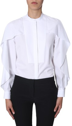 Alexander McQueen Frilled Cape Effect Shirt