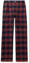 Sleepy Jones - Marcel Piped Checked Cotton Pyjama Trousers