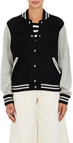 Marc Jacobs Women's Stockinette-Stitched Wool-Cashmere Varsity Jacket-BLACK, GREY, NO COLOR