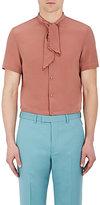 Gucci Men's Silk Embroidered Short-Sleeve Shirt