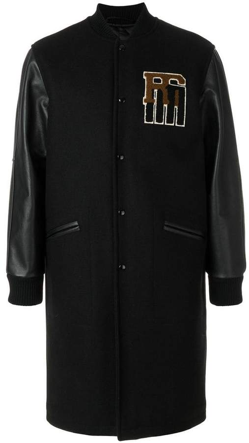 Raf Simons long panelled bomber jacket