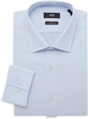 HUGO BOSS Slim-Fit Printed Dress Shirt